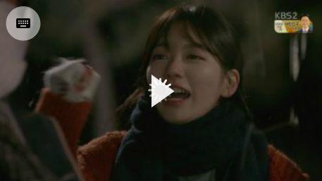ジュンヨンが撮影途中事故に遭って危ないという連絡を受けて、涙を流しながら悲しみます。