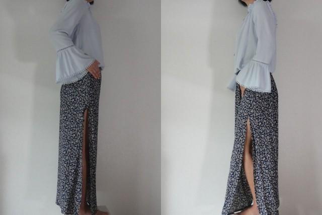マキシ丈スカートデザイン