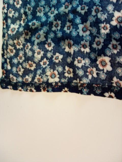 マキシ丈スカート裾のオーバーロック