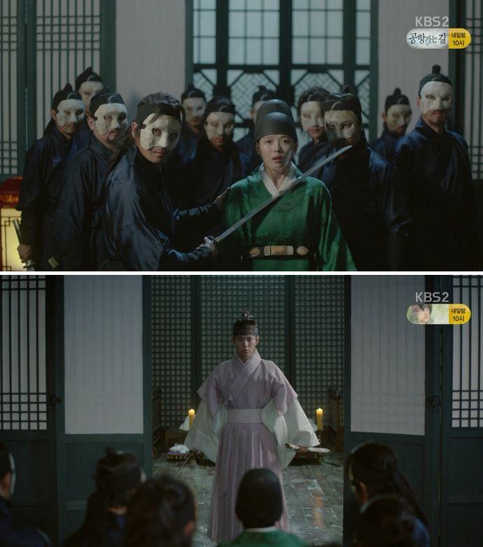 ギム・イギョは復讐のためにキム・ホン(チョン・ホジン)と徒党謀議をして白雲会に偽造した刺客を行かせます。