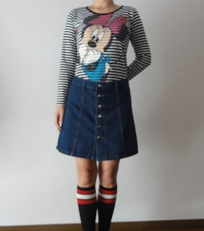 カジュアル雰囲気デニムスカート