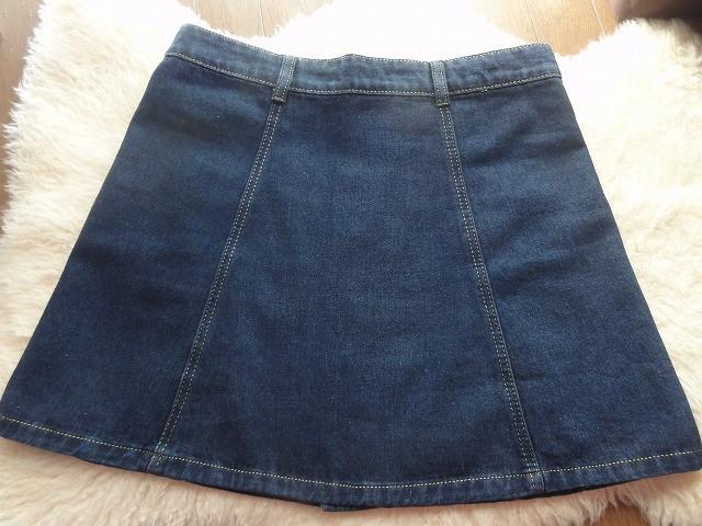 ボタンデニムスカート縫い目2
