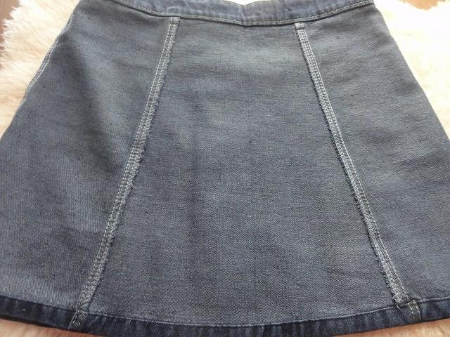 ボタンデニムスカート縫い目4