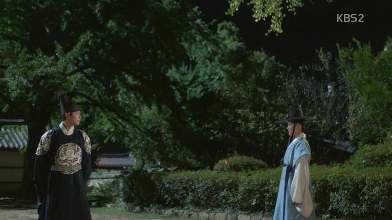 ラオンはイ・ヨン(パク・ボゴム)の事が心配で宮に戻ります。