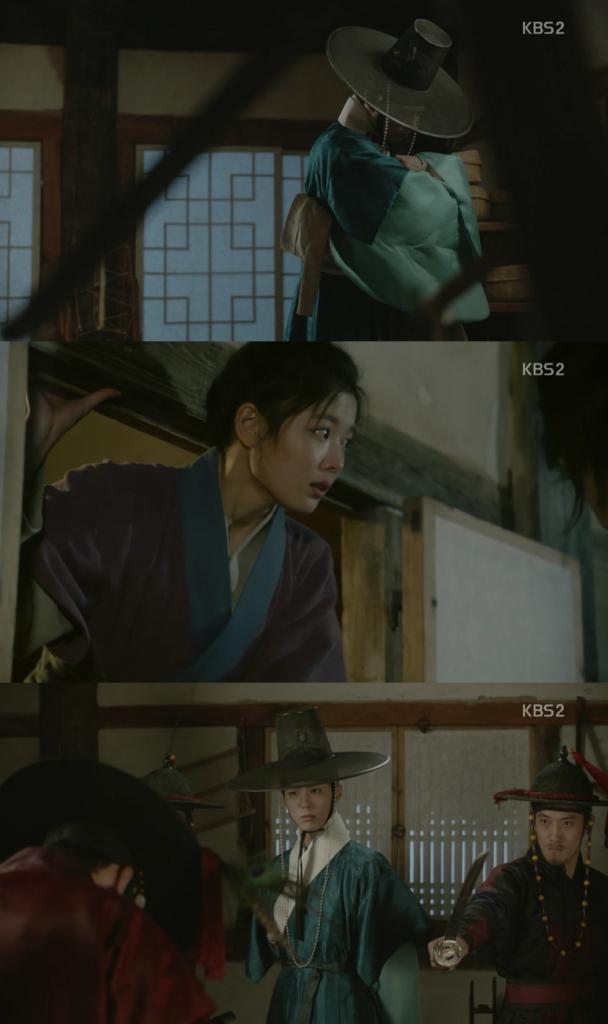 ホン・ラオン(キム・ユジョン)と再会したイ・ヨン(パク・ボゴム)はキム・ビョンヨン助けでラオンを無事に逃げさせます。