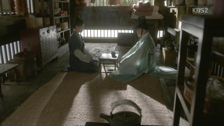 尚膳はホン・ラオン(キム・ユジョン)に訪ねて彼女の父であるホン・キョンレと意思を一緒にしようとします。