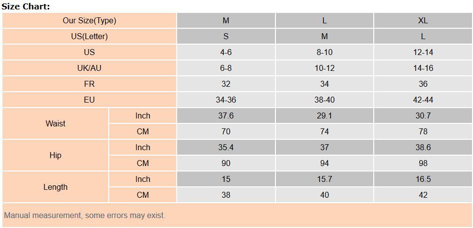 デニムスカートサイズ表