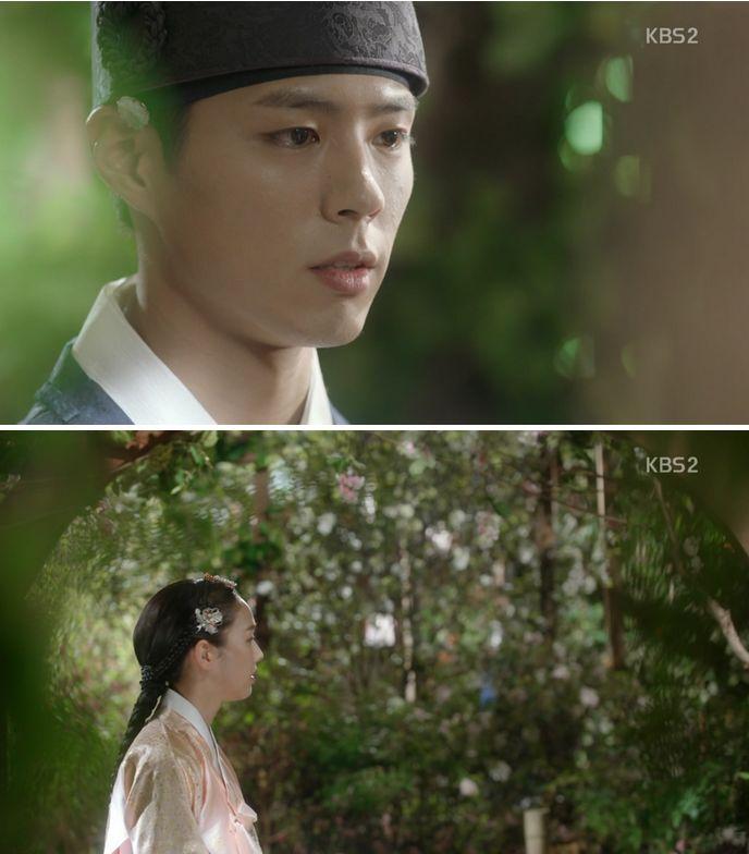 イヨンはラオンとの思い出を大事にしたくてハヨンに二度とこの花園に来ないでと冷たく言います。