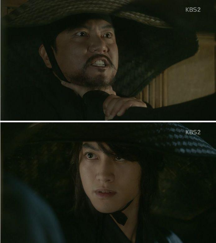 キム・ビョンヨン(グァク・ドンヨン)は、白雲会の裏切り者を分かるようになりますが、裏切り者は尚膳と世子の護衛武士である事を利用して脅迫します。