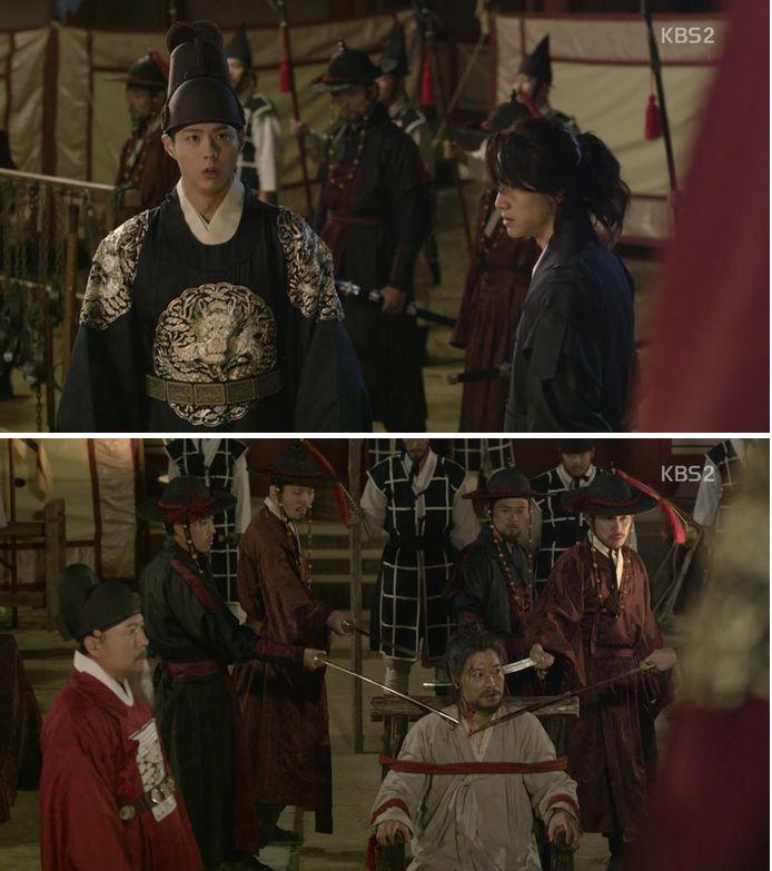 イ・ヨンは王様がホンキョンレを殺せないようにお願いをします