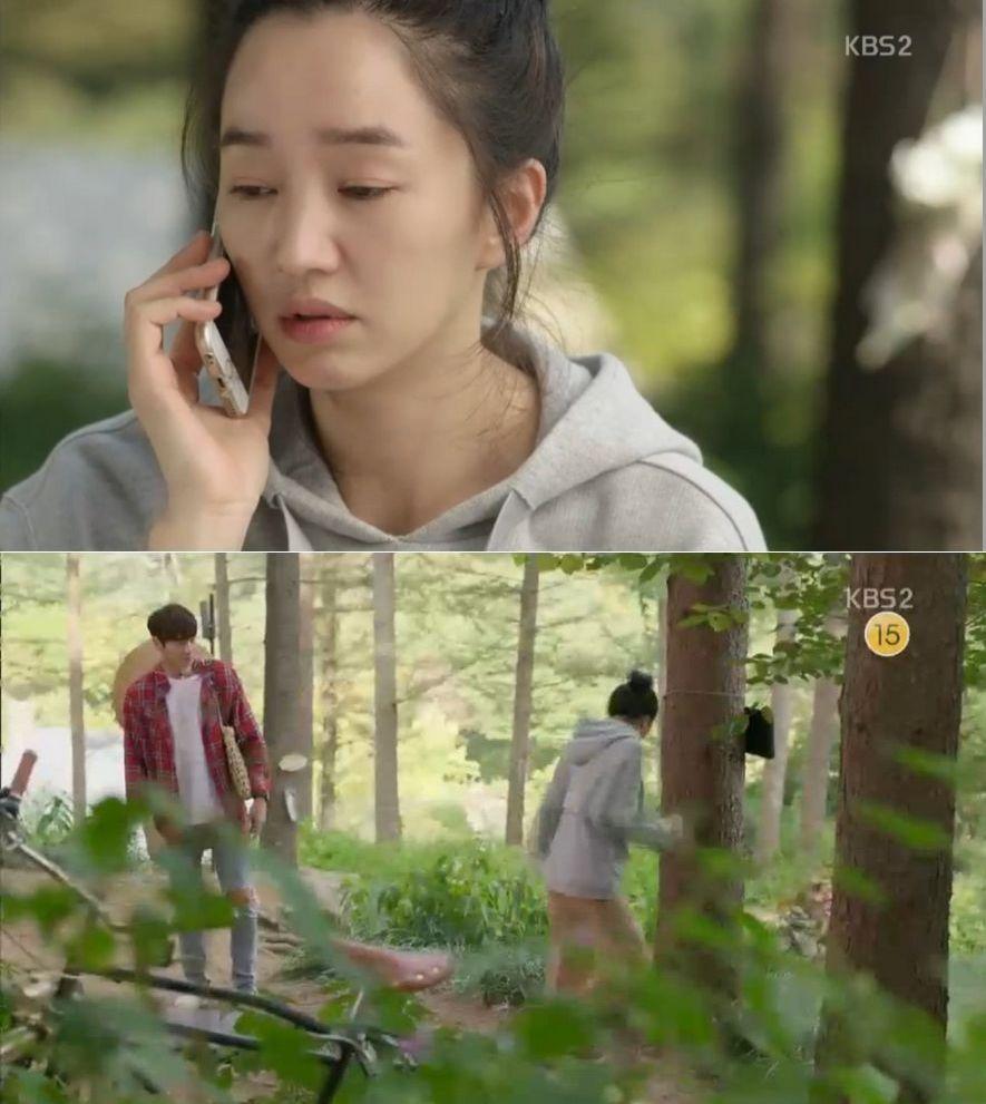 ナリは彼氏に電話おをかけて別れを言います