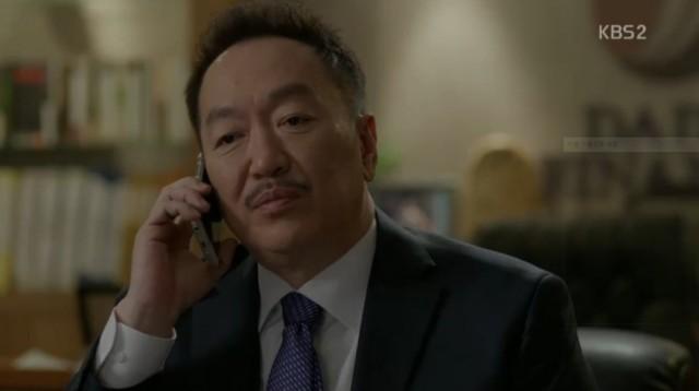 コ・ナンギル(キム・ヨングァン)はキム・ワンシクに秘密を言ってもいいのかをきいたら会長はすぐにしっぽを下して社員達を帰らせるからワンシクも帰らせてとお願いします。