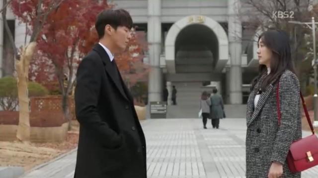 コ・ナンギル(キム・ヨングァン)はホン・ナリにありがとうと言います。