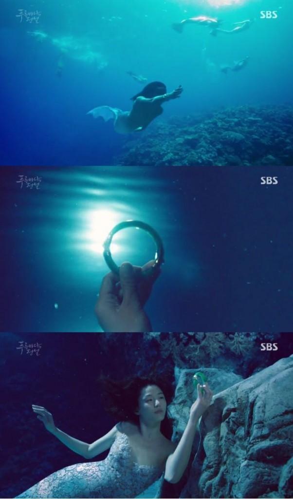その海の中には400年前ジュンジェが逃してあげたシム・チョンがいましたね!