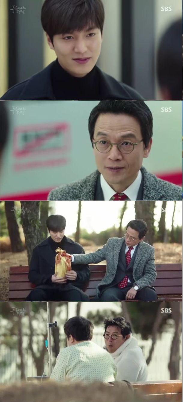 喜んで食べる彼女の姿を見て帰るジュンジェの前にナム秘書が現れます。