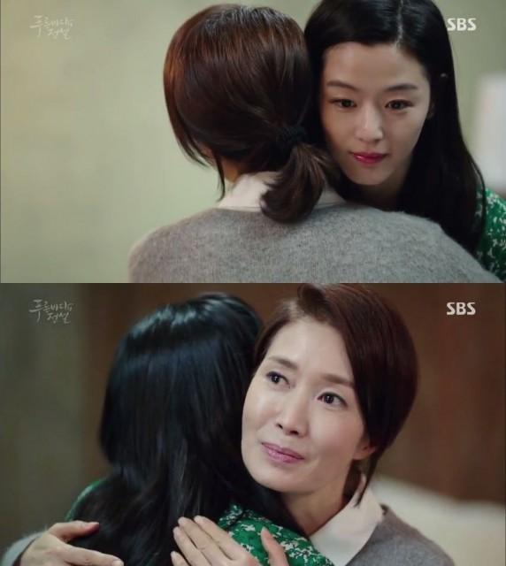 ジュンジェの母親は二人の愛を見て満足するような笑顔を見せてくれます。
