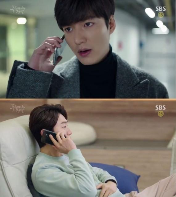 ジュンジェはナムドに電話をかけて父親の家に潜入することをお願いします。