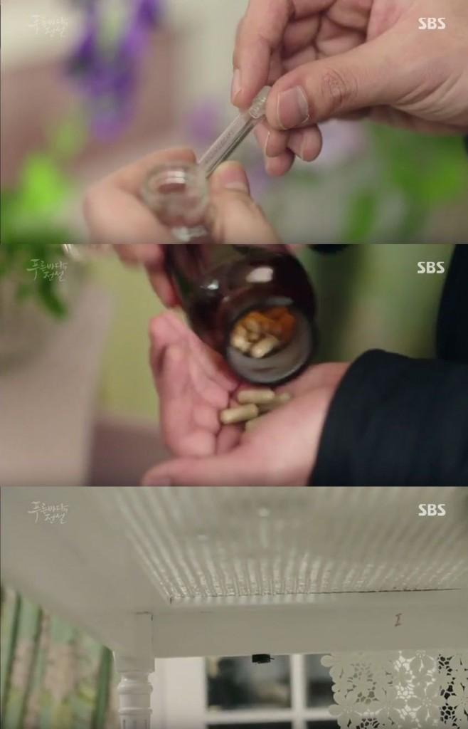いつも、カン・ソヒが生け花をする部屋で怪しい薬を見つけます。 最後に、盗聴器もつけておきます。