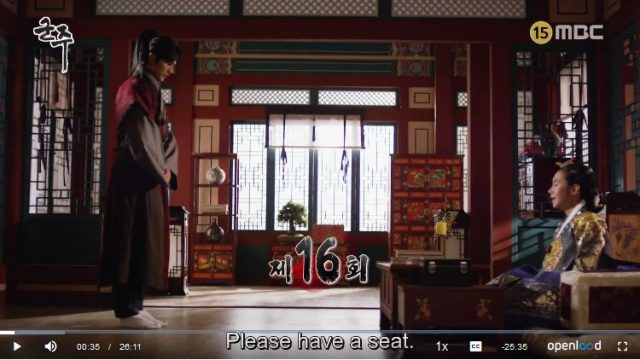 君主ー仮面の主人16話の英語字幕入り動画