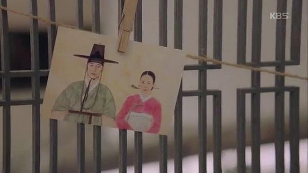 スホは家にミョンソとブニの肖像画の写真を展示しました