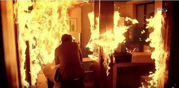 ワンスンの家に火事発生