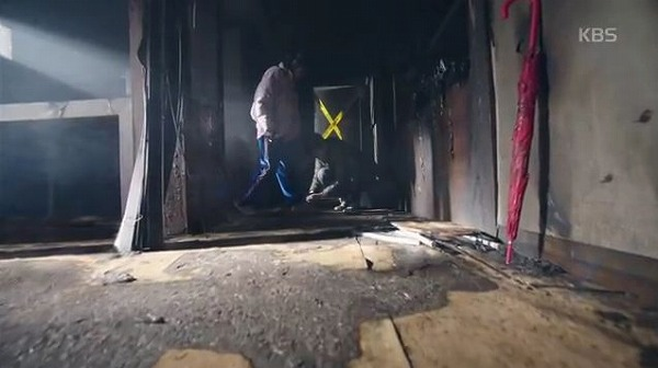 の内部でで火災が起きたことがないことを推理しました。