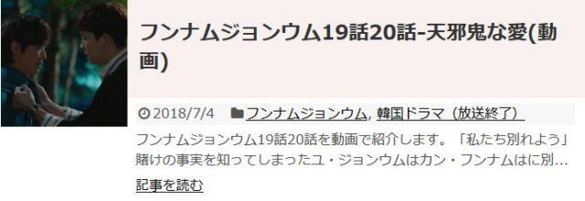「フンナムジョンウム」19話20話の日本語字幕入り動画