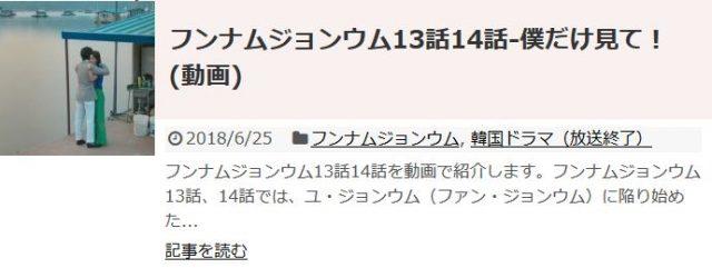 「フンナムジョンウム」13話14話の日本語字幕入り動画