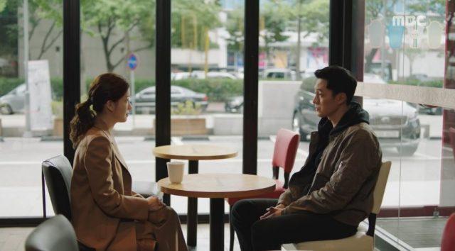 コ・エリンはキム・ボンに会って、ユ・ジヨンに話を聞いたと言いながら、もう、ベビーシッターを辞めて欲しいと言います。