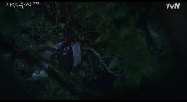 木に掛かっているユンセリ